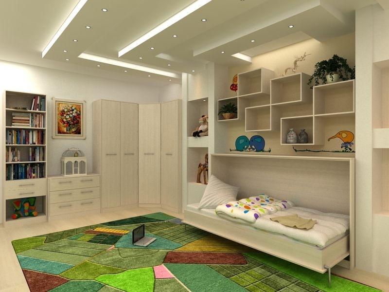 Практичная откидная мебель для двух детей