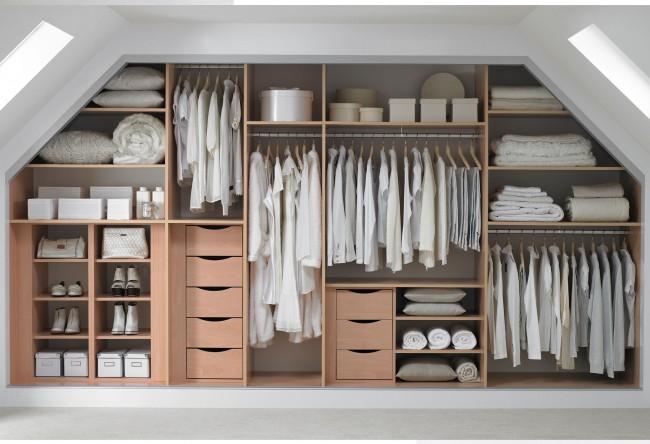 Практичная система хранения гардеробной