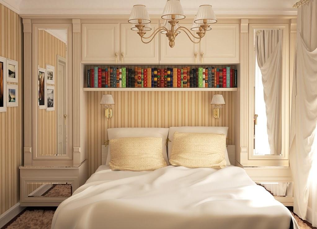 Практичное и удобное расположение мебели в спальной комнате