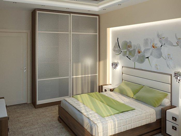 Практичное расположение мебели в спальной комнате