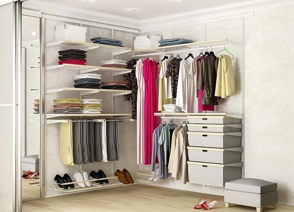 Практичные угловые гардеробные