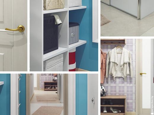 Практичный гардероб, размером 4 кв.м