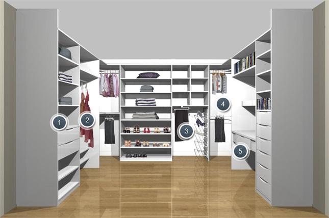 Правильное зонирование гардеробной комнаты в кладовке