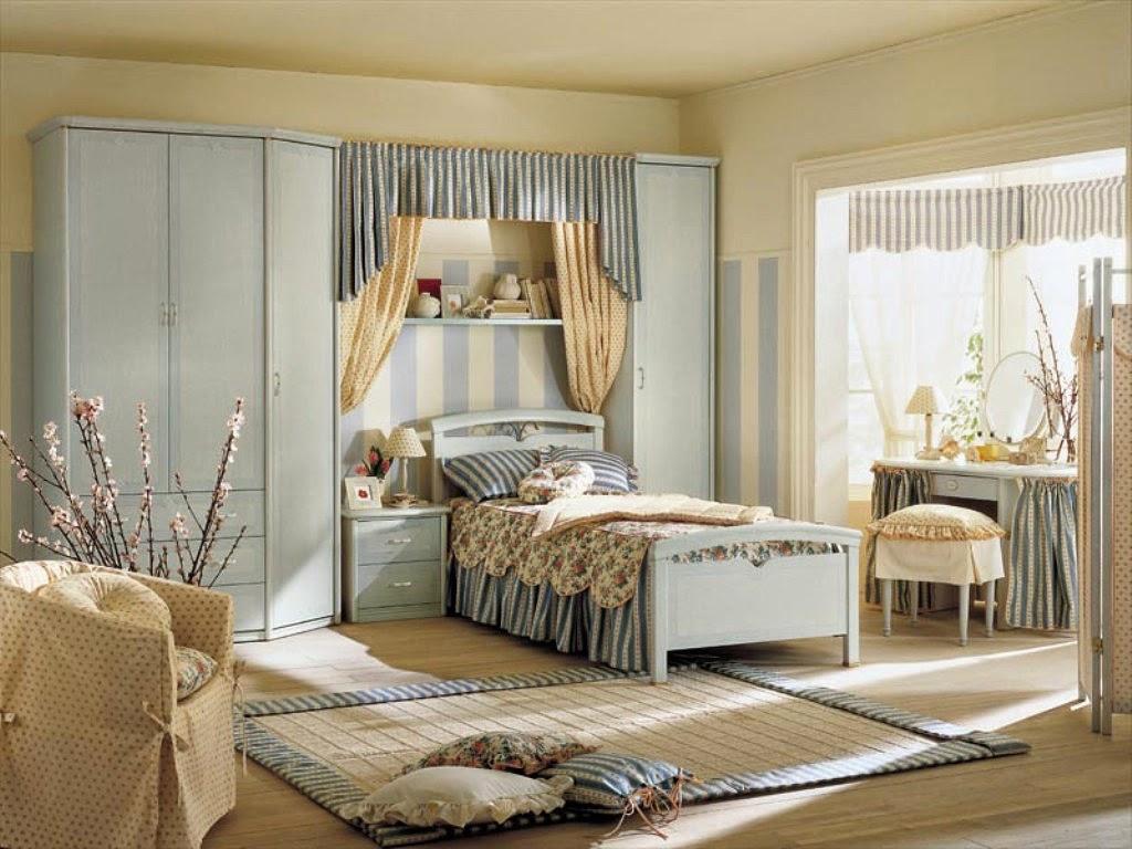Применение голубого цвета в комнате