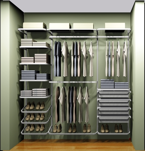 Применение сетчатой гардеробной системы