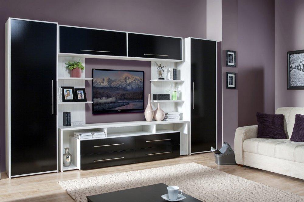 Пример применения модульной мебели в просторной гостиной