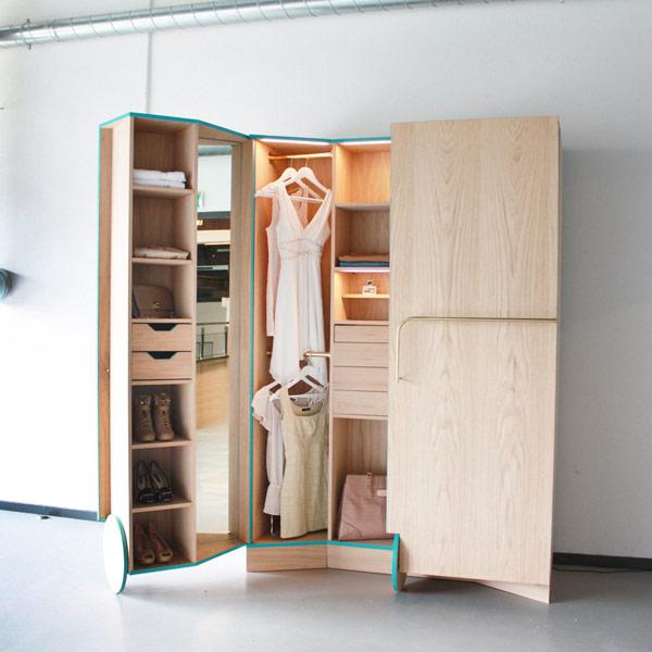Пример современного гардероба на 4 кв.м