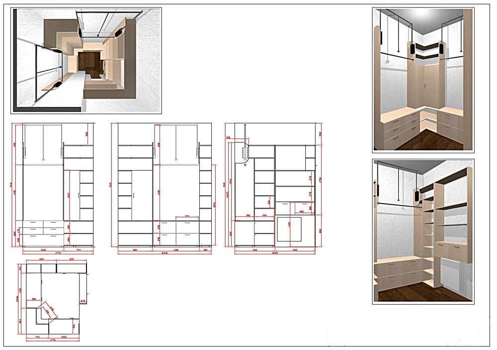 Гардеробная комната своими руками чертежи и схемы фото 641