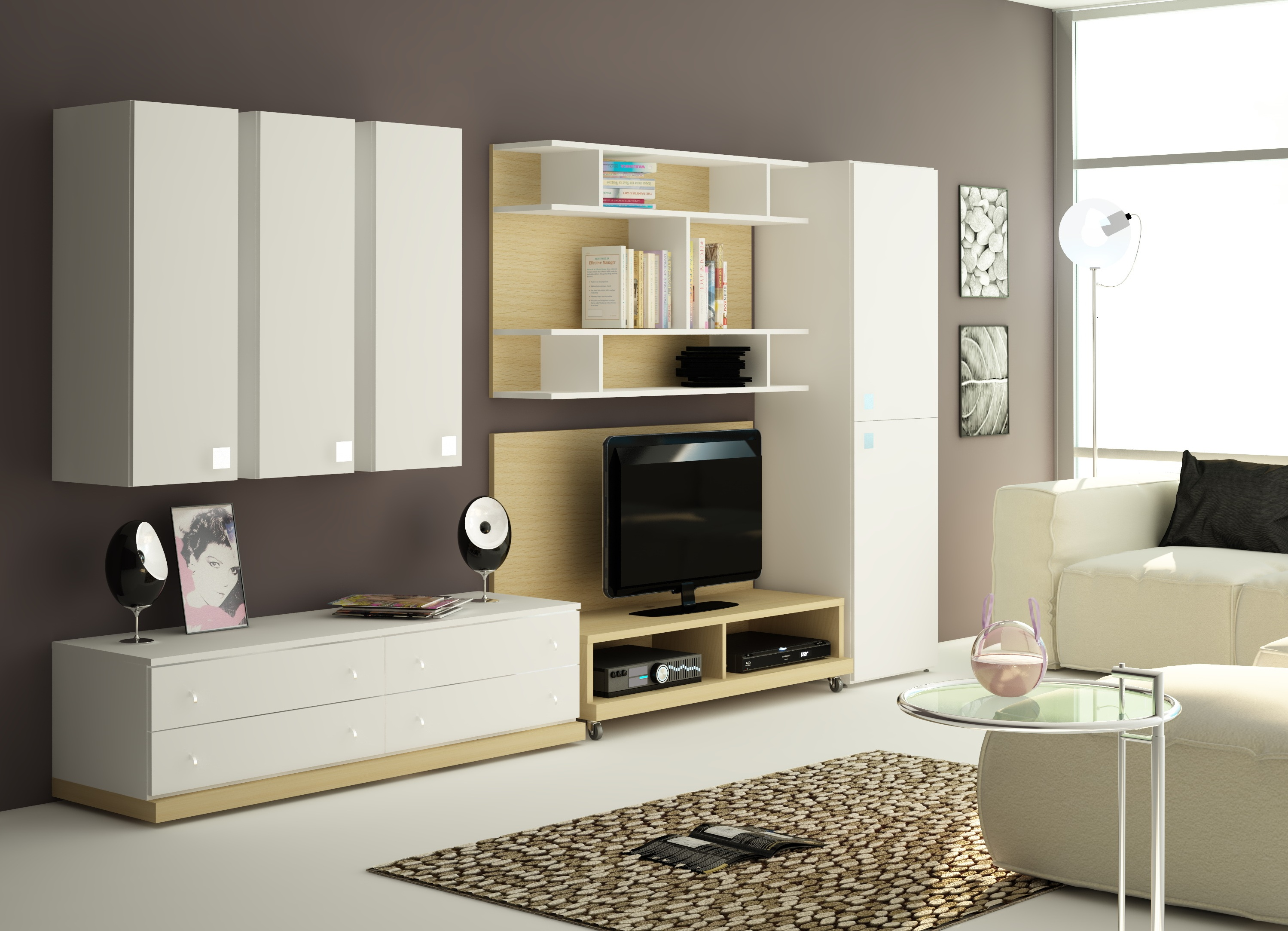 Примеры гостиных комнат с мебелью в изящном современном стиле