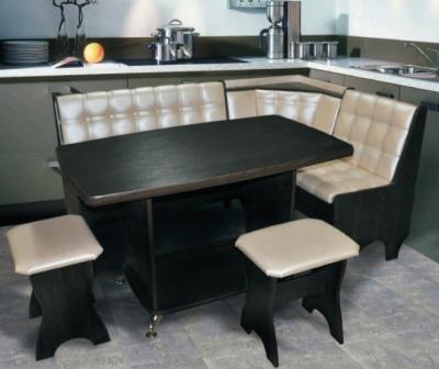 Привлекательная мягкая мебель в кухню