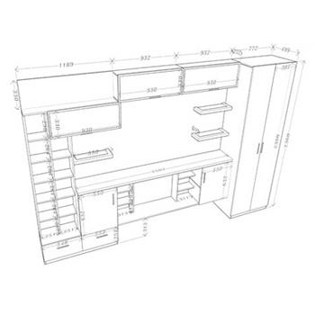 Расчет необходимой мебели для кухни