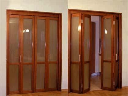 Раздвижные двери гармошка для гардеробной комнаты