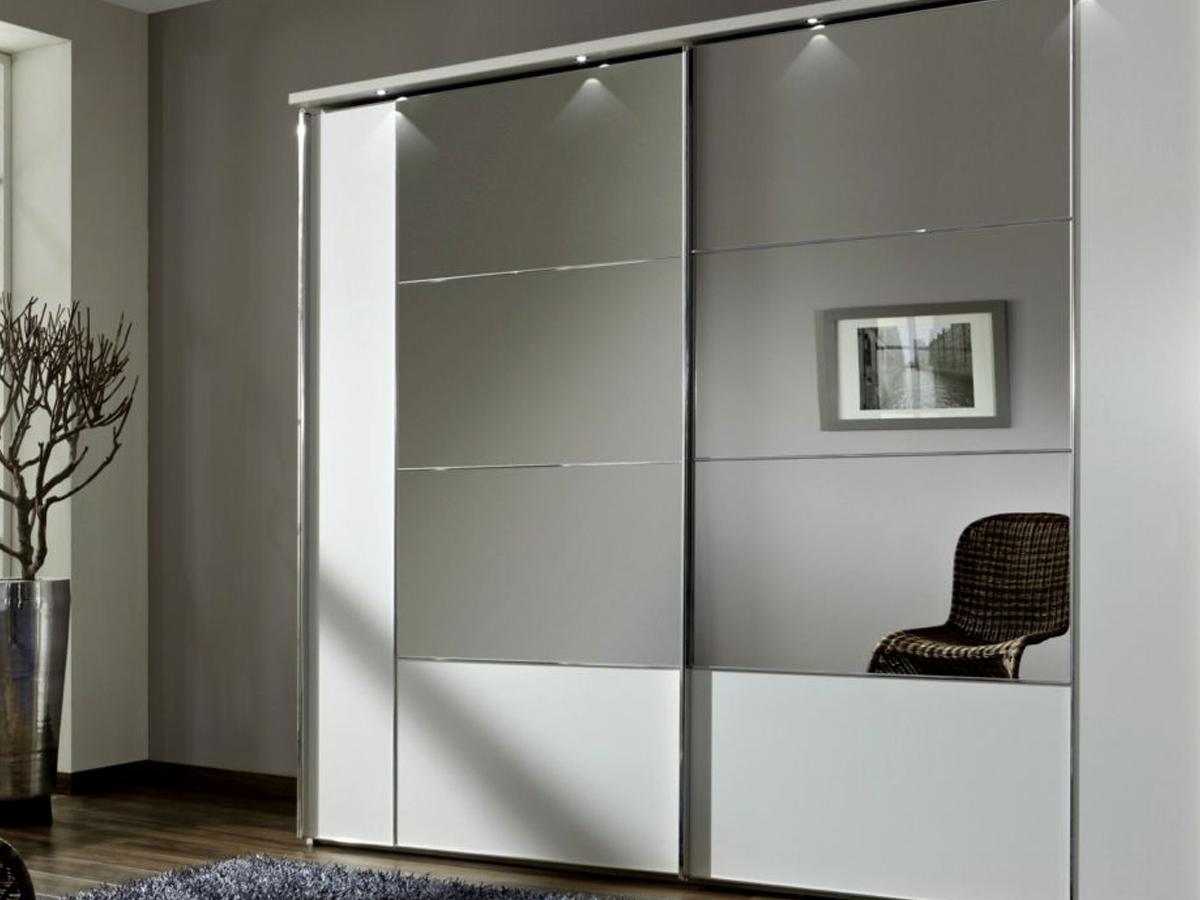 Раздвижные зеркальные двери для шкафа купе
