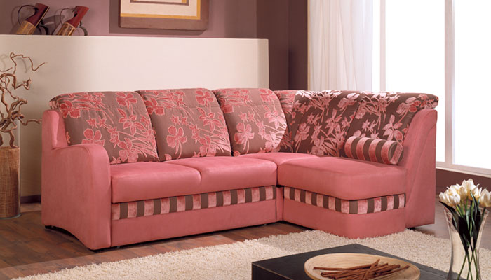 Розовая ткань для обивки мебели