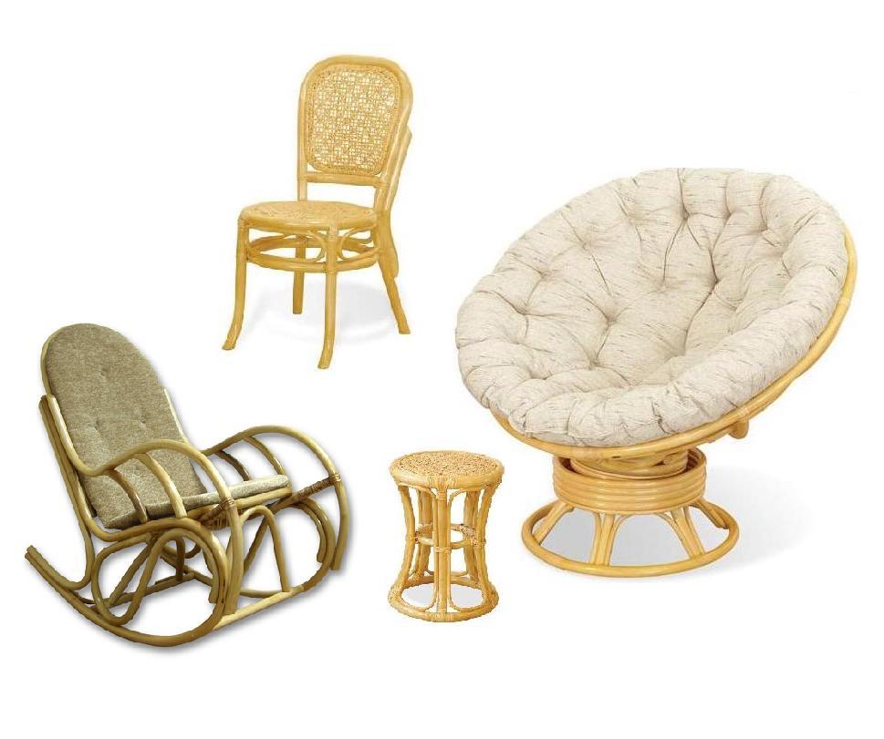 Садовая мебель, созданная из ротанга
