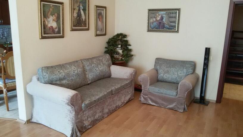 Серый еврочехол для старой мебели