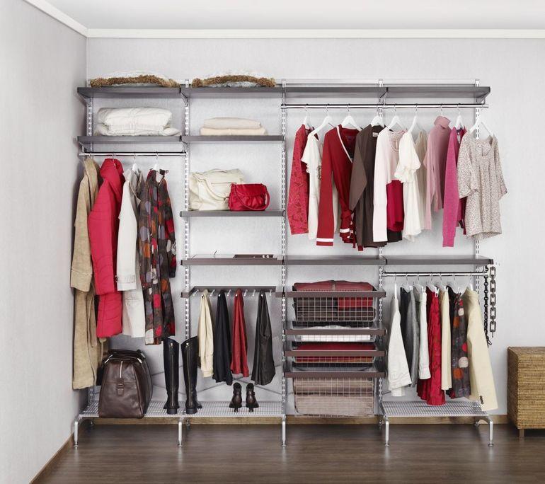 Сетчатая гардеробная комната