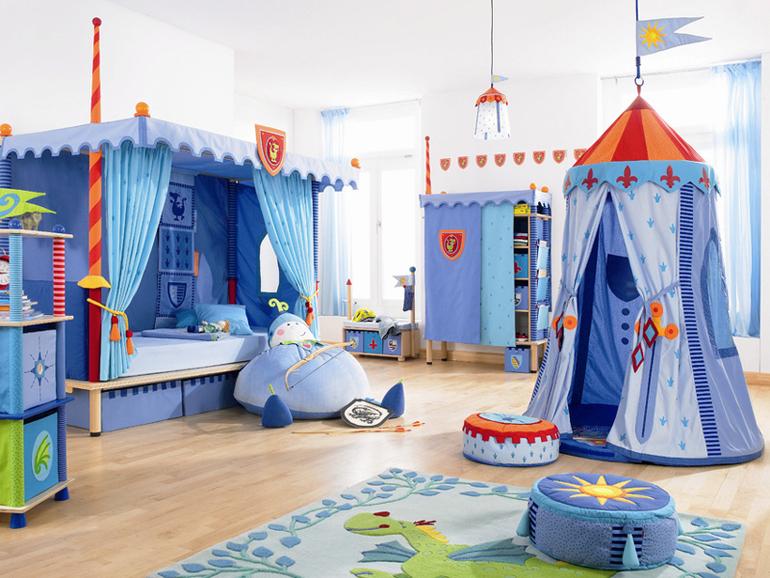 Синяя детская игровая мебель