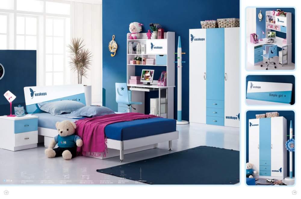 Синяя детская модульная мебель