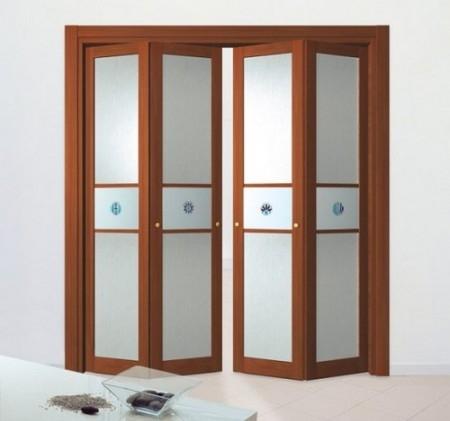 Складная дверь гармошка для гардеробной