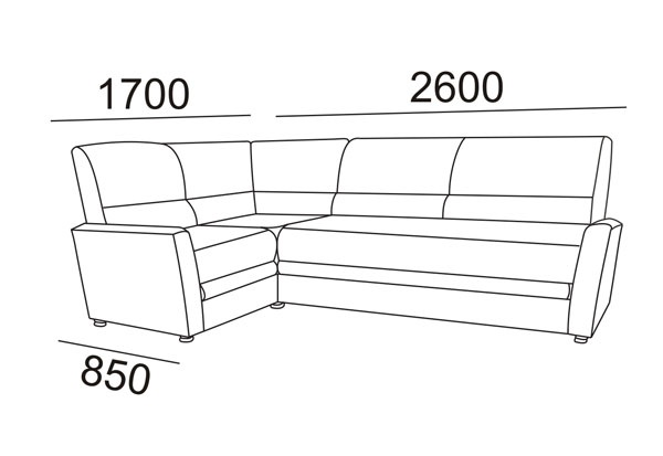 Снятие замеров дивана