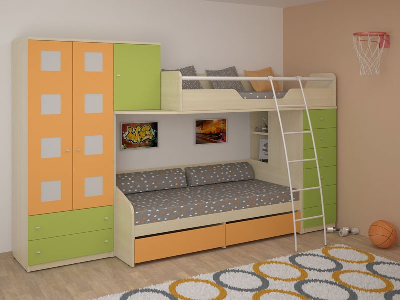 Современная корпусная детская мебель