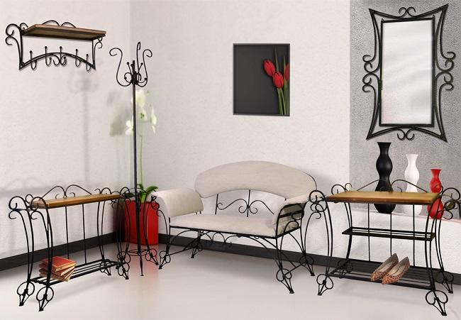 Современная кованая мебель для прихожей