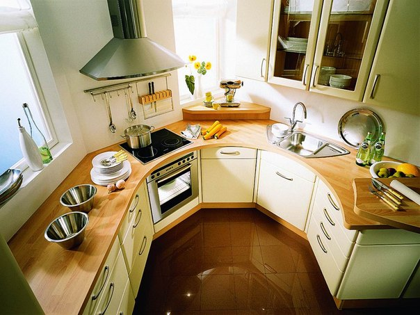 Современная круговая кухня