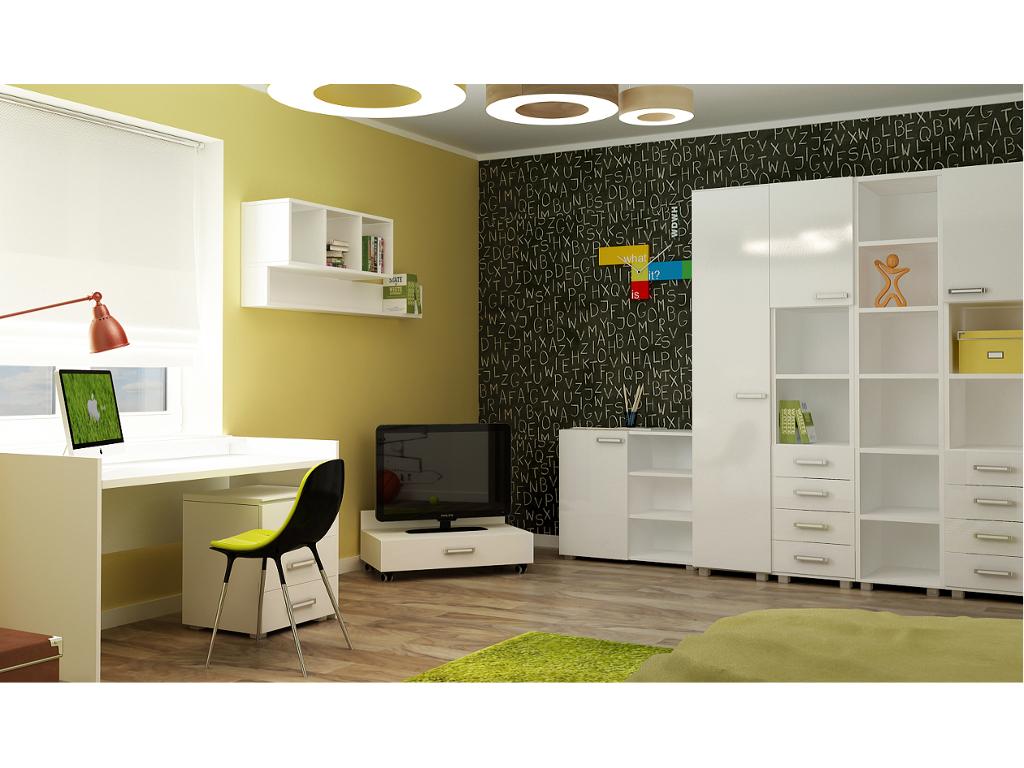 Современная мебель белого цвета для детской