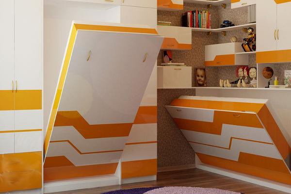 Современная модульная мебель для двух детей
