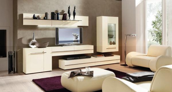 Современная модульная мебель в гостиной