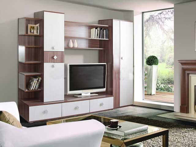 Современный вариант дизайна мебели для обустройства гостиной комнаты