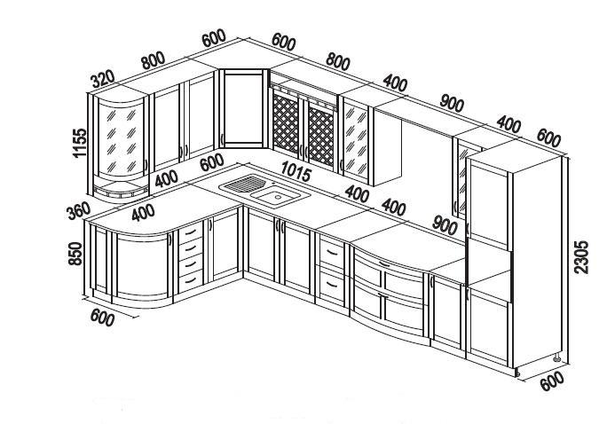 Создаем проект кухонного гарнитура