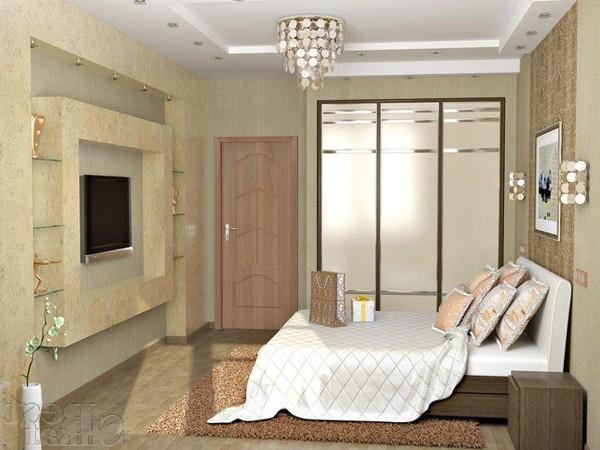 Создаем симметричное расположение мебели в спальне