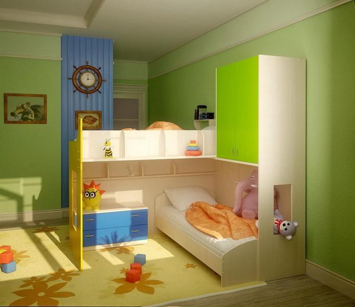Спальня для проживания двух детей