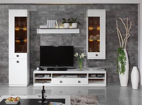 Стильная глянцевая мебель для гостиной