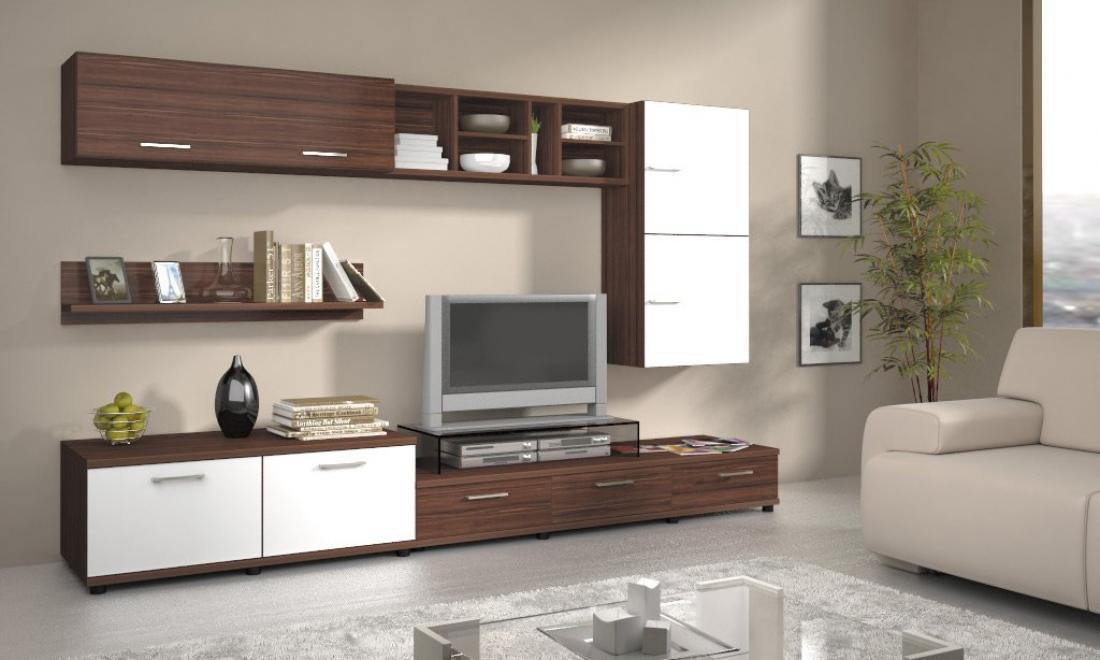 Стильная корпусная мебель для гостиной