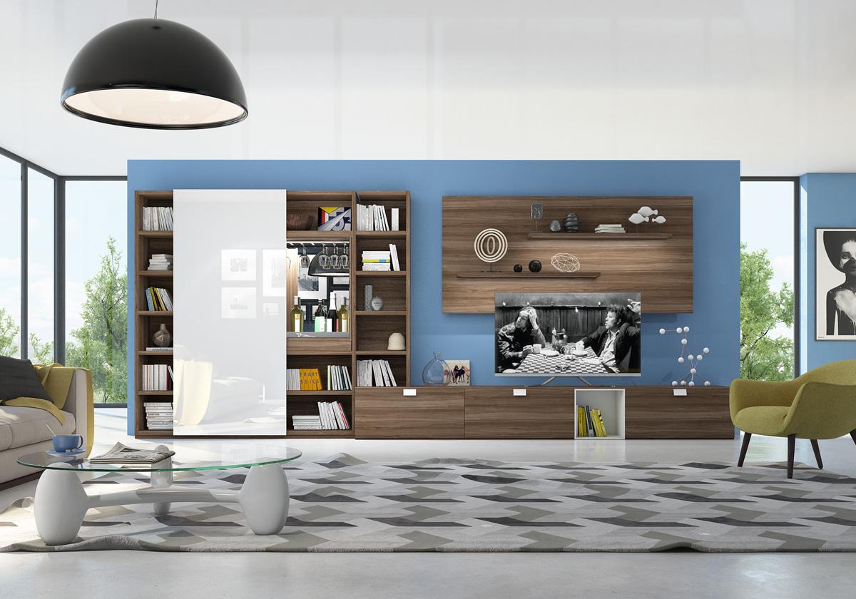 Стильная корпусная мебель для обустройства гостиной комнаты