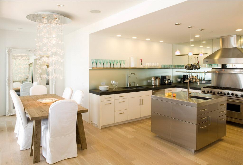 Стильная кухня гостиная