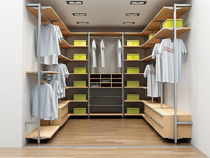 Стильная отделка гардероба