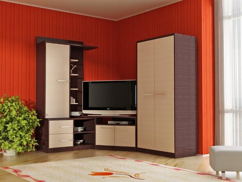 Стильная угловая мебель в гостиной