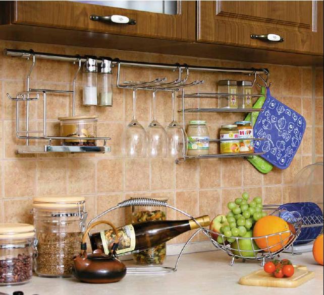Стильные рейлинги для кухни