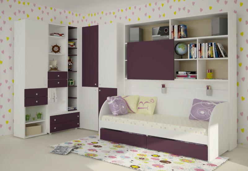 Стильный набор детской мебели для дома