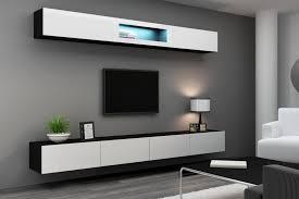 Светлая глянцевая мебель для гостиной