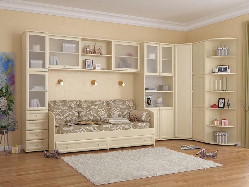 Светлая корпусная мебель