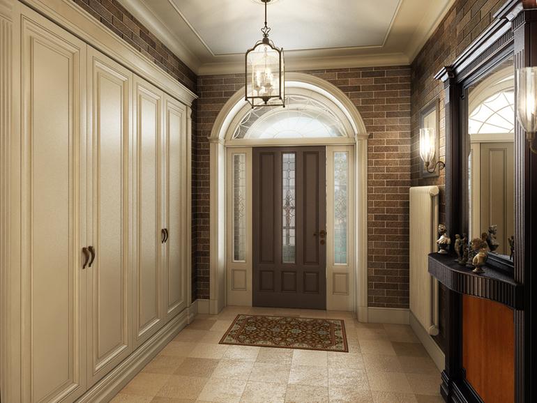 Дизайн прихожей в квартире фото в классическом стиле