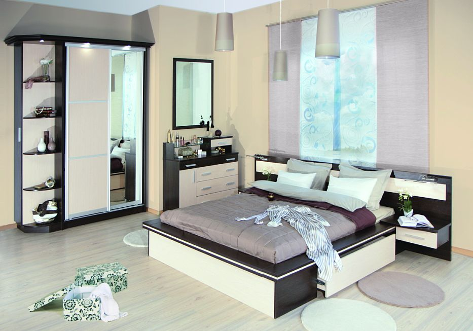 Светлая мебель для спальни