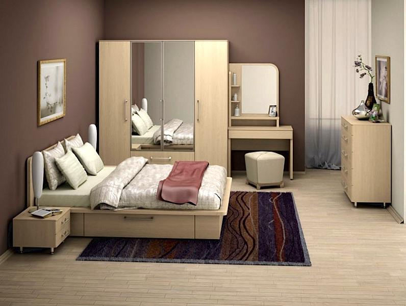 Светлая модульная мебель для спальни