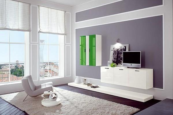 Светлая привлекательная мебель для гостиной комнаты