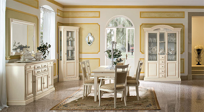 Светлая современная мебель в гостиную классического стиля